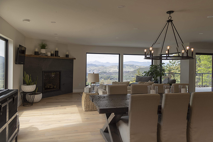 Modern Farmhouse Renovation has Alta Vista Del Mar hardwood flooring throughout the home.